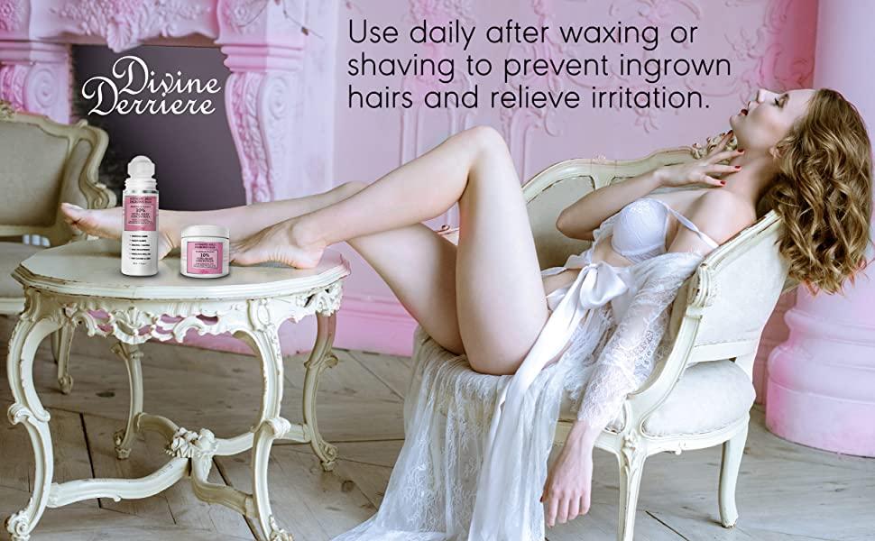 waxing and shaving irritation