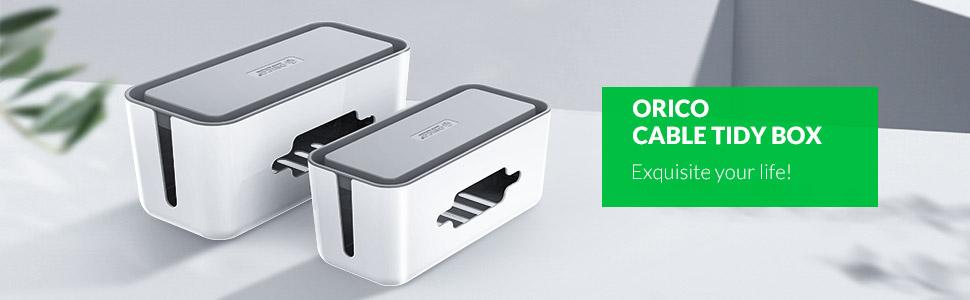 ORICO-Caja para Cables, Caja Cables, Caja Organizadora Cables- Regletas, Cargadores, Adaptadores, Alargadores y Otros Accesorios- Gris y Blanco: Amazon.es: Electrónica