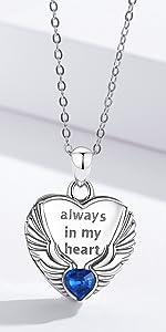 Angel Wings Heart Locket Necklace