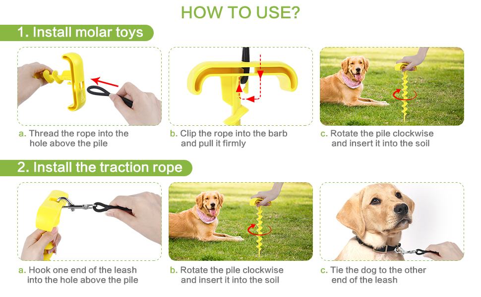 dog tie out stake