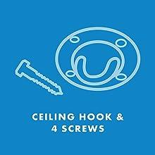 Ceiling Hook and 4 Screws