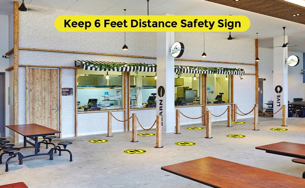 office distancing floor sign