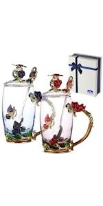 fancy glass tea cup