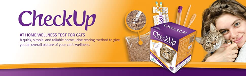 Checkup cat, Urine sample, hydrophobic litter, test strips