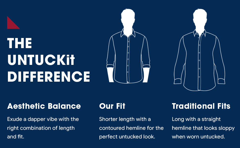 untuckit shirts' fit compared to traditional shirts' fit