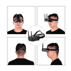 Goolsky 5.8G 40CH FPV Goggles Gafas de Video Antenas Duales para ...