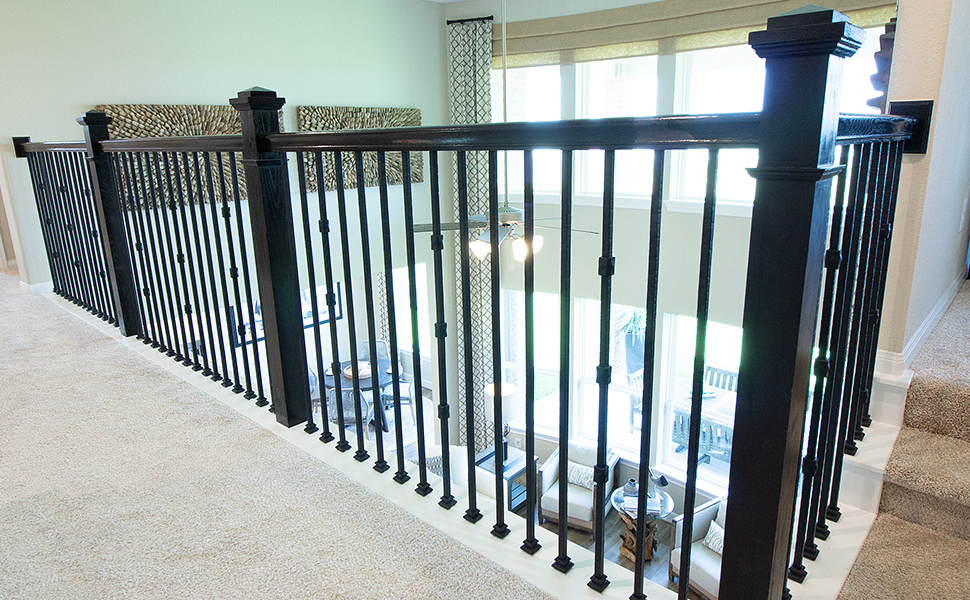 Satin Clear 2.9.21 Hammered Round Bar Solid Iron Baluster for Staircase Remodel