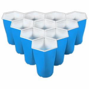 hexcups beer pong cups and balls set