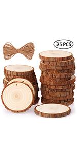 Fuyit 8-9cm 25pcs wood slices