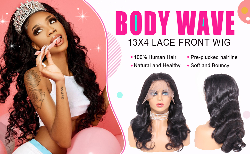 Lace front Body wave human hair wigs