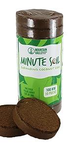 minute soil coconut coir grow medium coco mountain valley handy pantry