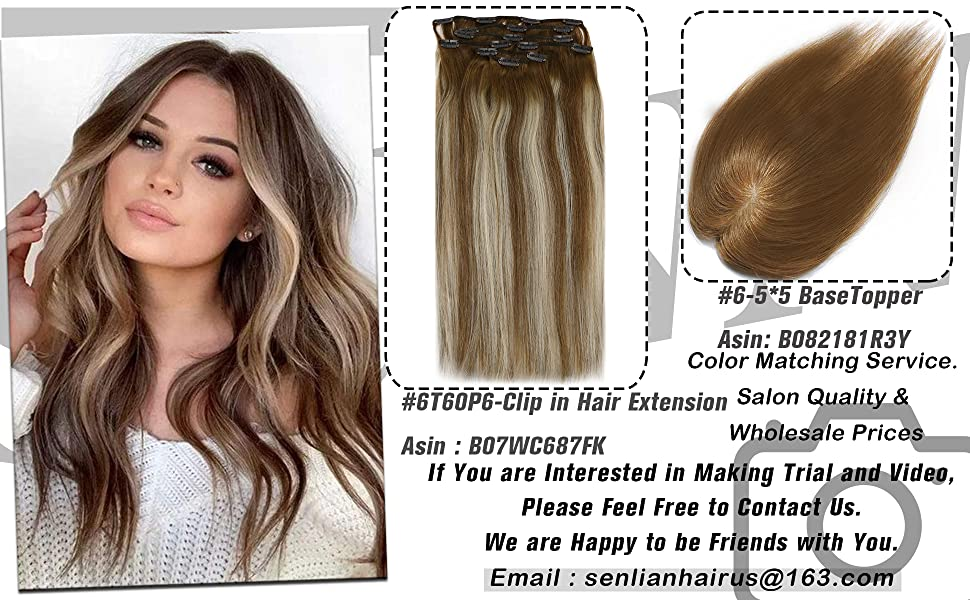 sunny clip in and topper human hair extension