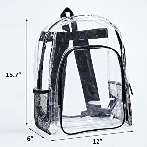 Large See Through Backpack