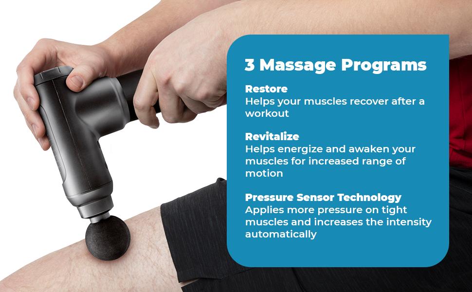 Homedics massage gun foot back muscle massager deep tissue Rechargeable sciatica pain relief
