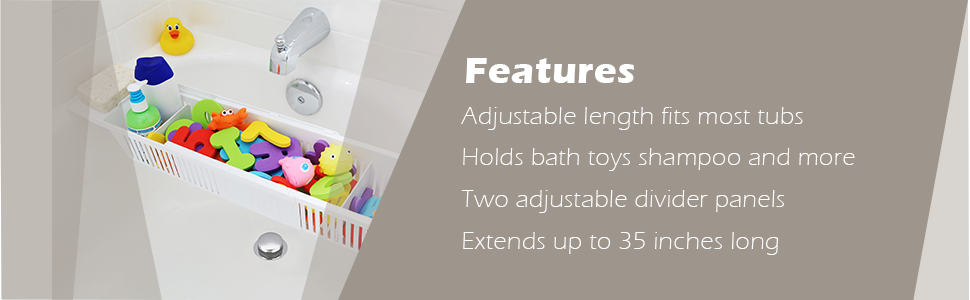 kids bath toy organizer and bathtub storage basket