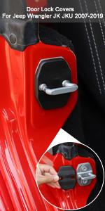 Door Lock Cover for Jeep Wrangler JK JKU