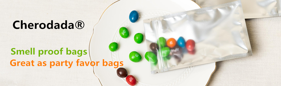 Cherodada Smell proof bags, great as party favor bags