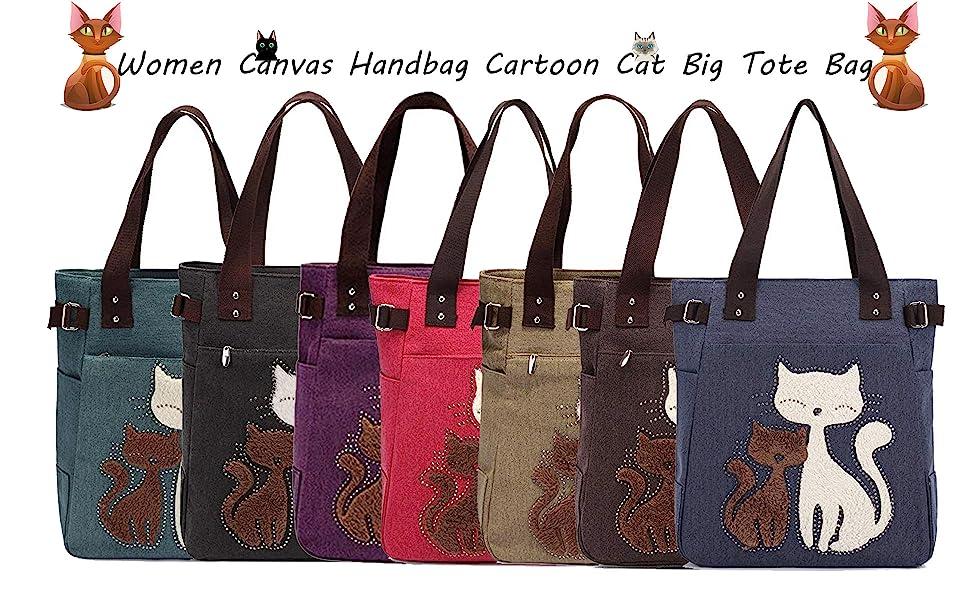 Women Cat Shoulder Bag