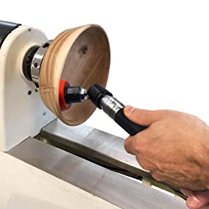 Bowl Sander Tool for Wood Turning with 300 Free 2 Colour Mesh Sanding Discs