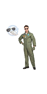 Men's Flight Pilot Costume