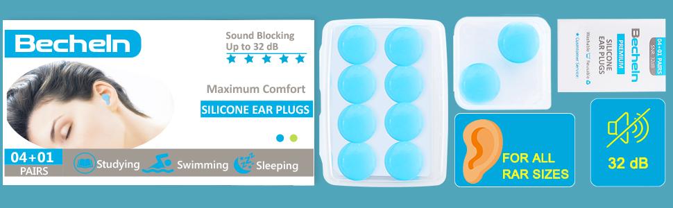 5Pair Silcone Anti Noise Foam Ear Plugs Earplugs Swimmers Swimming Sleep Summer☃