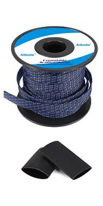 blue wire sleeving,blue cable sleeve,blue braided cable sleeve,PET expandable braided sleeving
