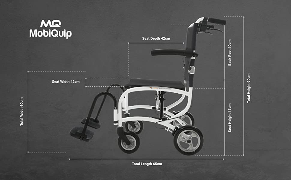 dimensions for carry mate wheelchair