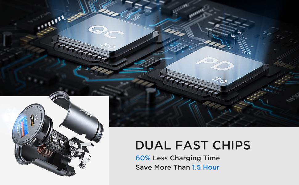 fast pd Auto Ladegerät USB C car charger schnell auto ladegerät