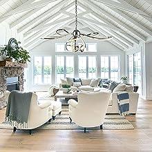 Modern Led Chandelier, VICNIE 50W Dimmable LED Pendant Lighting Fixtures