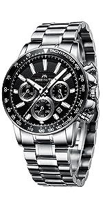 Relojes Hombre Acero Inoxidable Negro