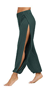 Women's High Slit Yoga Lounge Beach Pants
