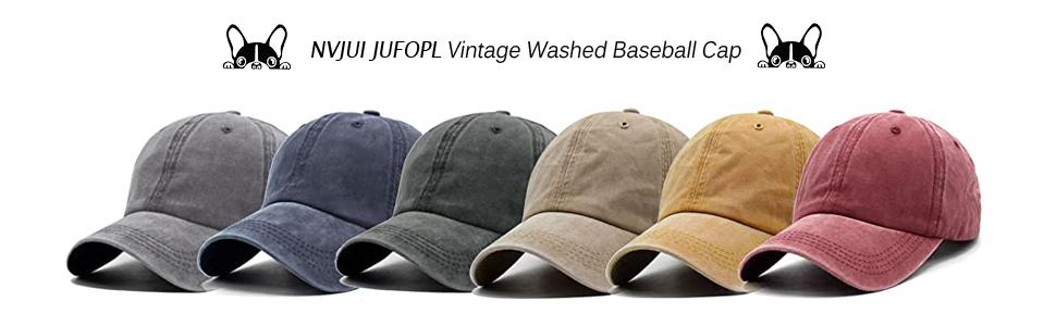 Vintage Washed Funny Cap baseball hat for women men