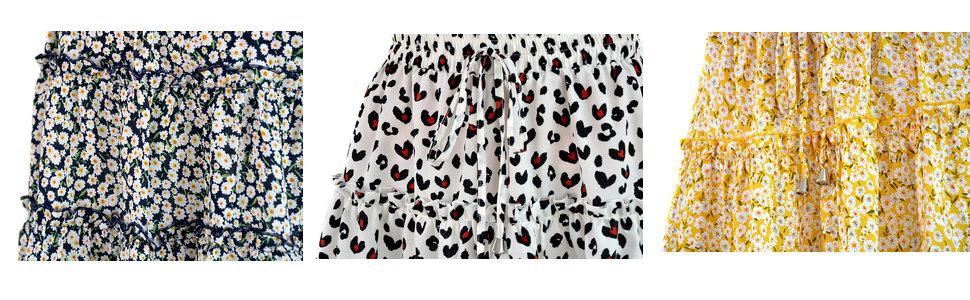 details for floral mini skirt