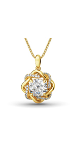 Jeulia 925 Silver Love Knot Necklace