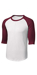 Mens or Youth 3/4 Sleeve 100% Cotton Baseball Tee Shirts