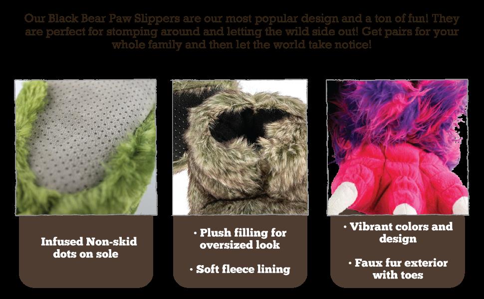 Non skid sole, Plush Filling, Vibrant Colors