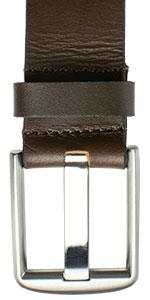 Nickel Free Wide Pin Brown Belt