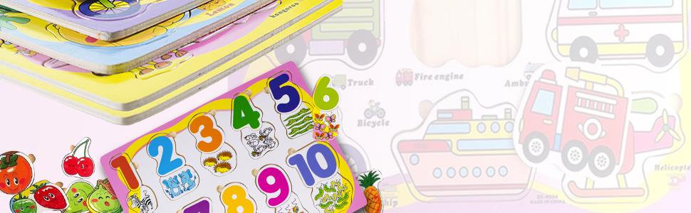 Assemble Arrange Recognition Colorful Pre - School Kids Babies