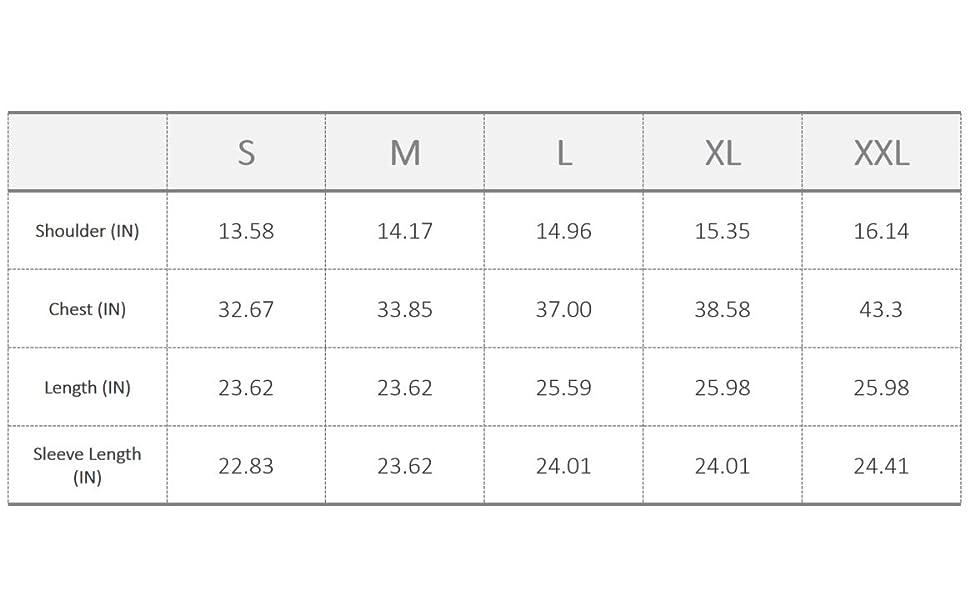 Slim fitting women turtleneck size chart