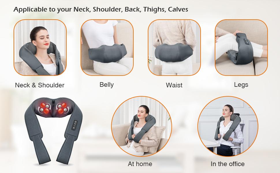 Neck pillow Foot leg massager shiatsu neck massager shiatsu neck massager with heat