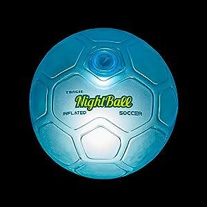 tangle nightball lightup led blue soccer ball glow sports accessory