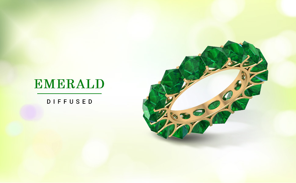 banner emerald diffused