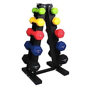 Fitness Republic Stainless Steel Dumbbell Rack 3 Tier 5 Tier Holder