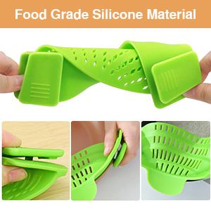 silicone clip on strainer silicone strainer clip-on silicone food strainer food strainers plastic