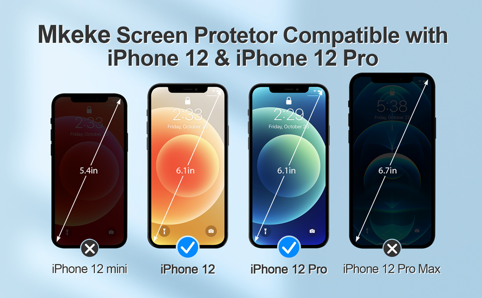 iphone 12/12 pro screen protector