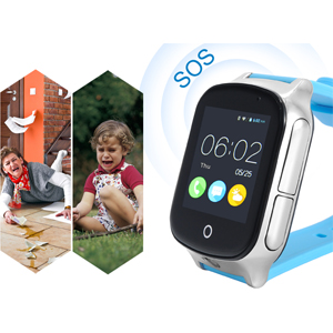 3G WiFi Phone Call GPS Smart Watch, Laxcido Real-time Tracking SOS GPS Tracker Watch, Geo-Fence Elderly GPS Watch Touch Screen Camera Step Counter ...