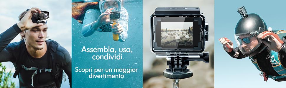 action cam impermeabile go pro action cam gopro videocamera subacquea