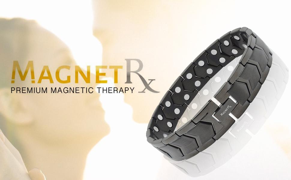 black magnetic bracelet for men pain relief bracelet for arthritis and carpal tunnel pain bracelet
