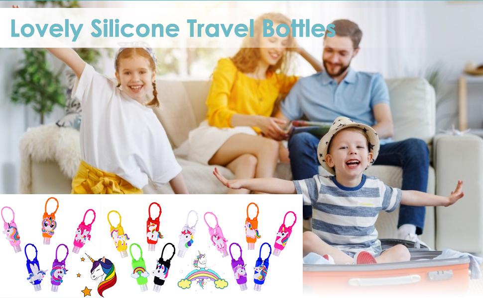 Lovely silicone travel bottles