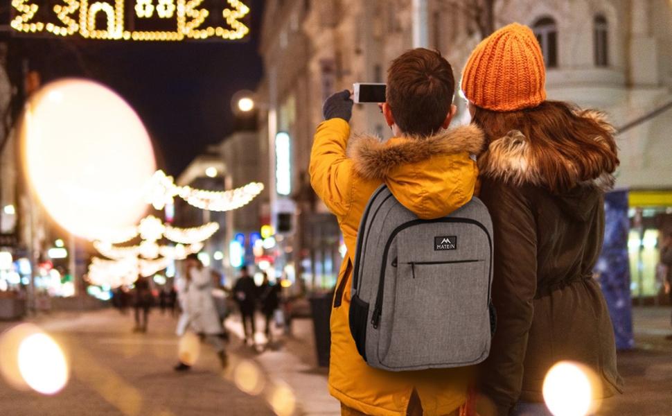 MATEIN travel laptop backpack mens bag school bag Christmas gift Back to school schoolbag